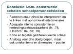 conclusie i v m constructie schalen schoolpersoneelsleden
