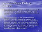 are there different kinds of doctrine