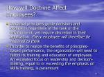 how will doctrine affect employees