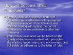 how will doctrine affect employees1