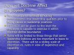 how will doctrine affect employees2