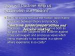 how will doctrine help us accomplish our mission1