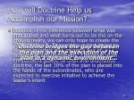 how will doctrine help us accomplish our mission2