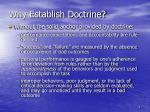 why establish doctrine1
