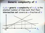 generic complexity of s