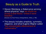 beauty as a guide to truth