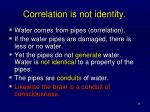 correlation is not identity