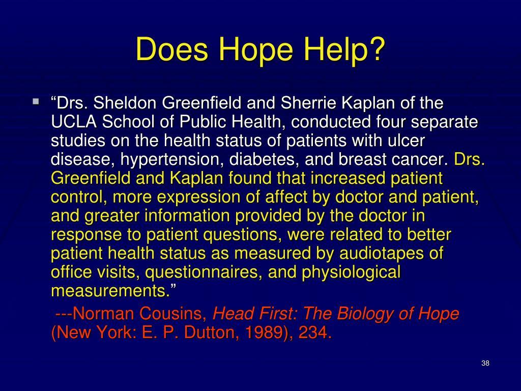 Does Hope Help?