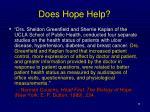 does hope help