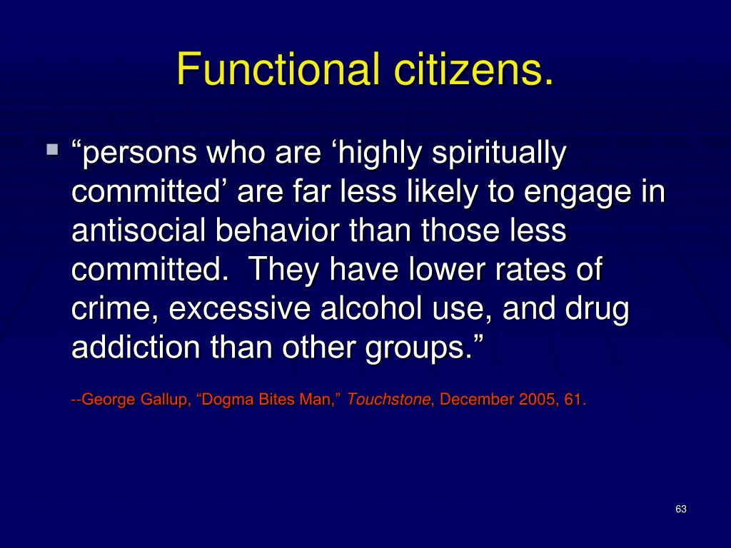 Functional citizens.