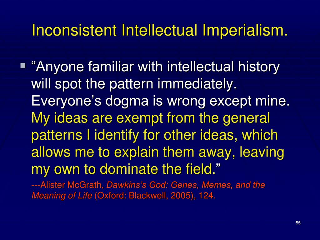 Inconsistent Intellectual Imperialism.