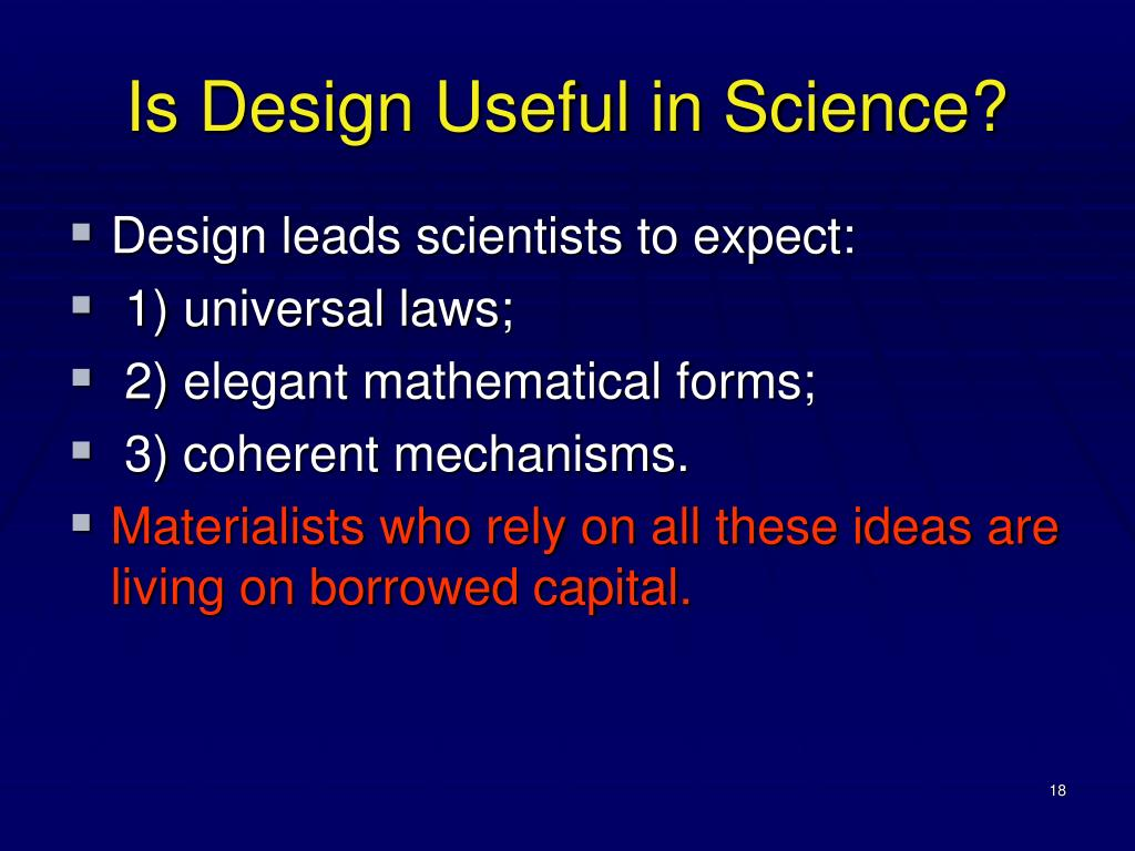 Is Design Useful in Science?