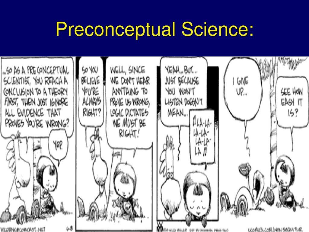 Preconceptual Science:
