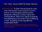 the god gene vmat2 dean hamer