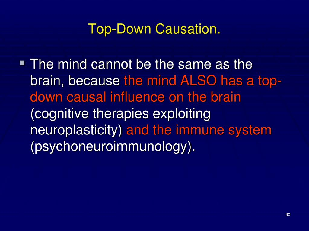 Top-Down Causation.