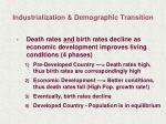 industrialization demographic transition