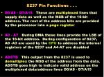8237 pin functions