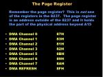 the page register