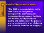 goal of recommendations