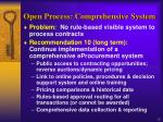 open process comprehensive system