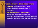 open process tracking system