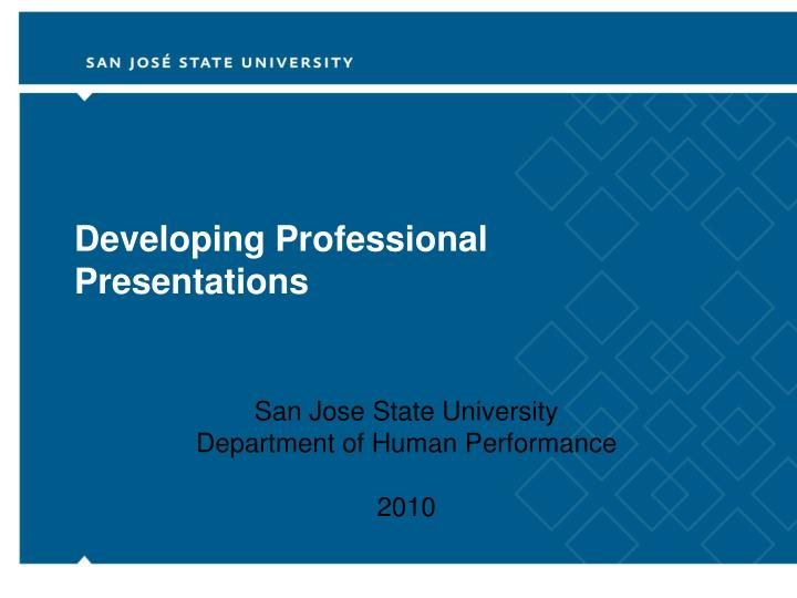 developing professional presentations n.