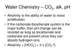 water chemistry co 2 alk ph5