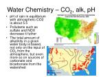 water chemistry co 2 alk ph6