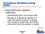 emergency situations using scba1