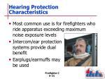 hearing protection characteristics
