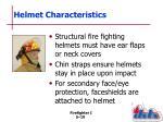 helmet characteristics1