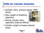 scba air cylinder assembly