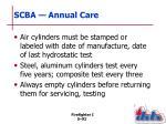 scba annual care1