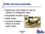 scba harness assembly