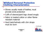 wildland personal protective clothing characteristics1