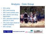 analysis core group