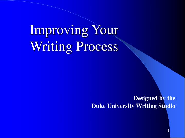 improving your writing process n.