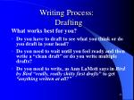 writing process drafting