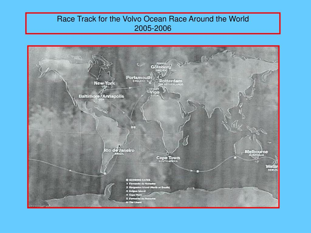 Race Track for the Volvo Ocean Race Around the World