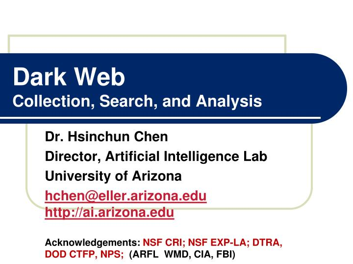 dark web collection search and analysis n.
