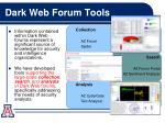 dark web forum tools