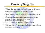 results of drug use