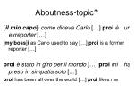 aboutness topic