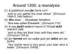 around 1200 a reanalysis