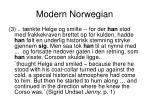 modern norwegian