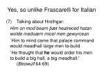 yes so unlike frascarelli for italian