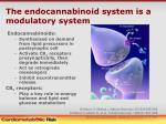 the endocannabinoid system is a modulatory system