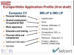 europortfolio application profile first draft