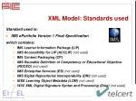 xml model s tandards used
