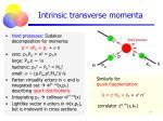 intrinsic transverse momenta